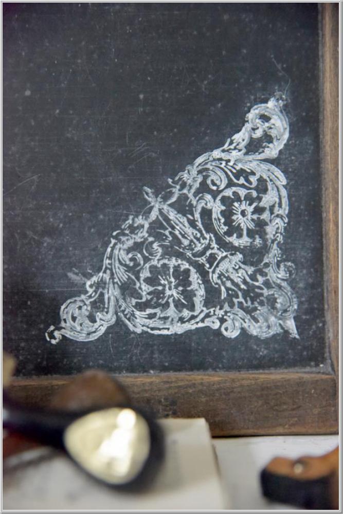 Jeanne d/'Arc Living Stencil Stempel Triangel 14x13cm Schablone Wiederverwendbar