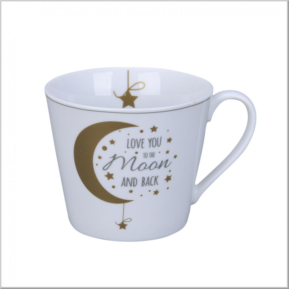 "Happy Tasse Cup ""Love you to..."" Kaffeebecher H9cm"