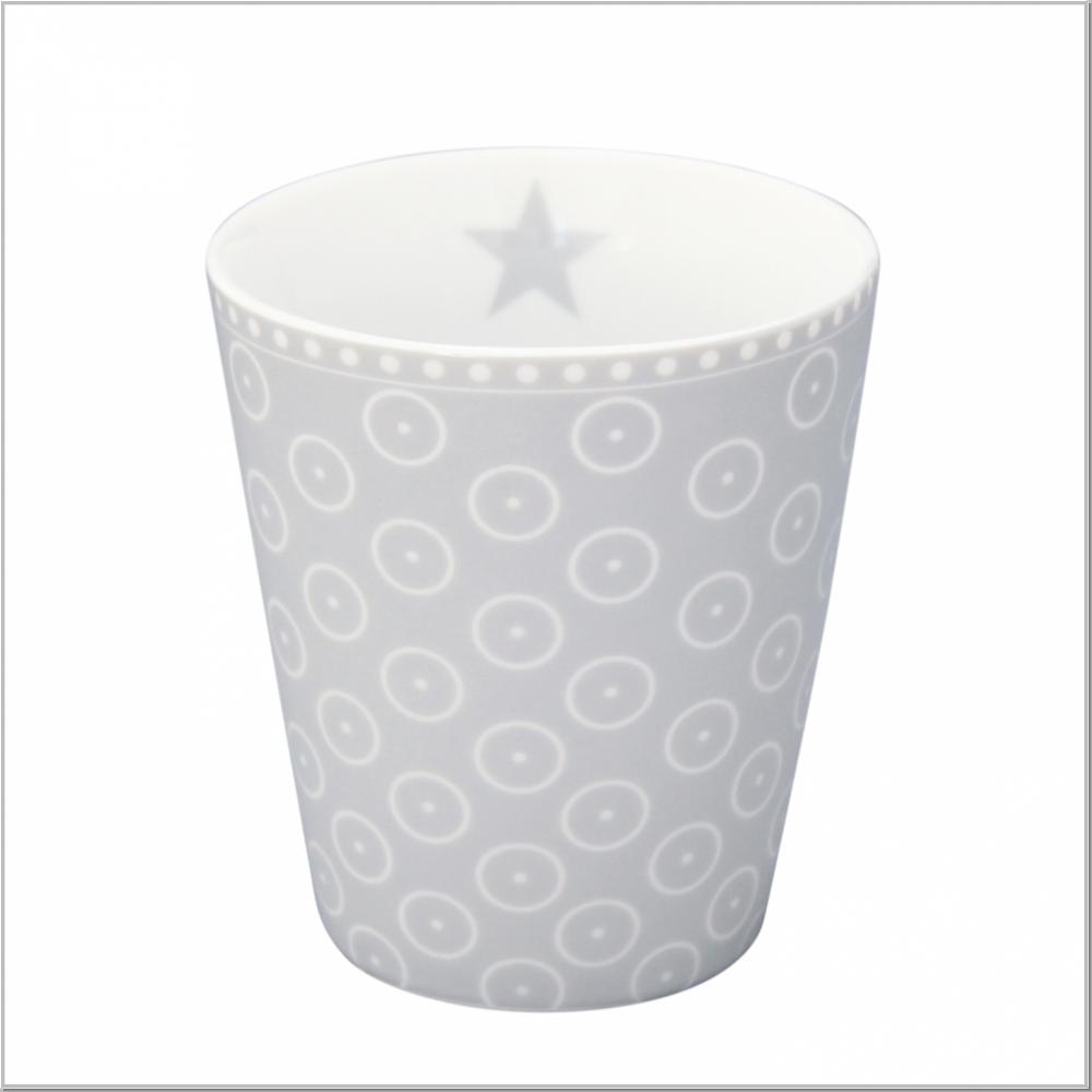 "Happy Mug ""Circle Dot Grey"" Kaffeebecher H10xØ9cm"