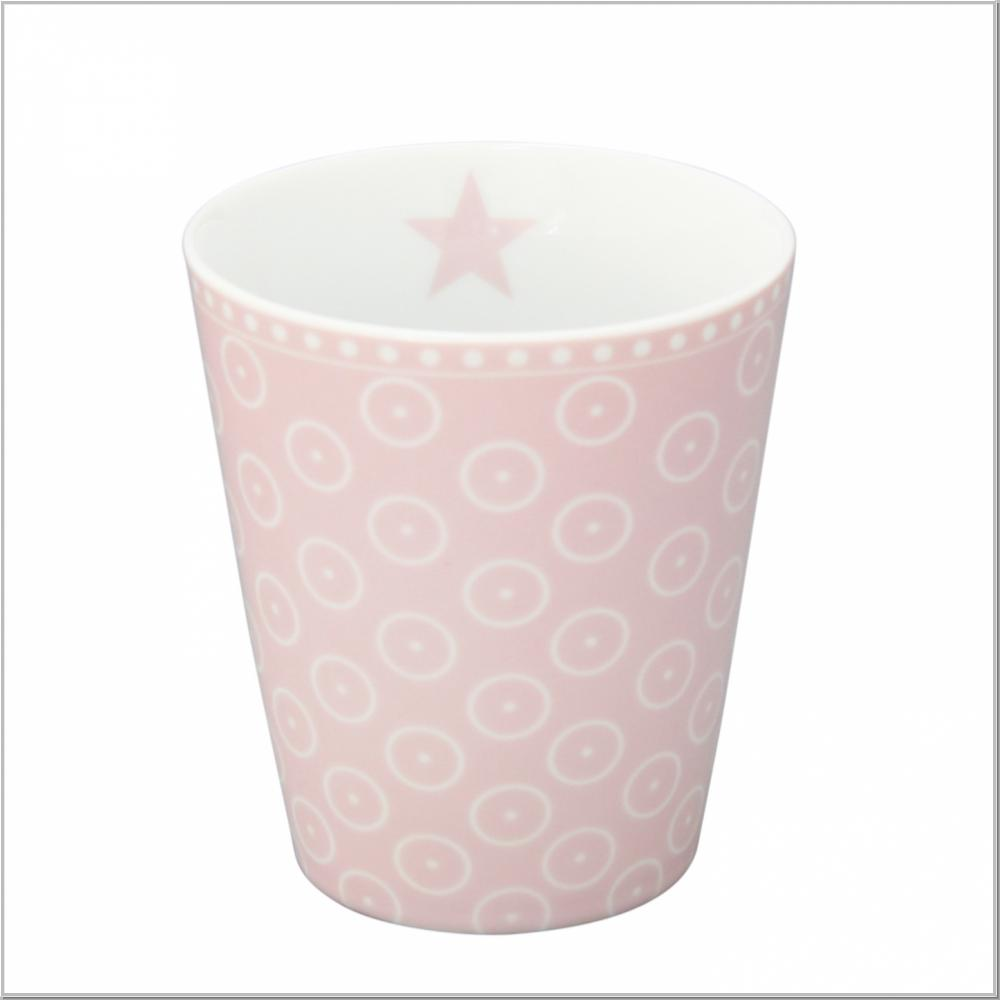 "Happy Mug ""Circle Dot Pink"" Kaffeebecher H10xØ9cm"