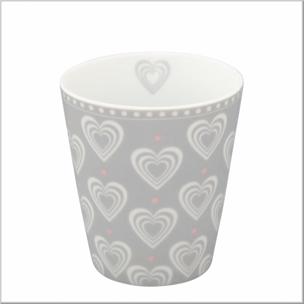 "Happy Mug ""3D Hearts"" Kaffeebecher H10xØ9cm"