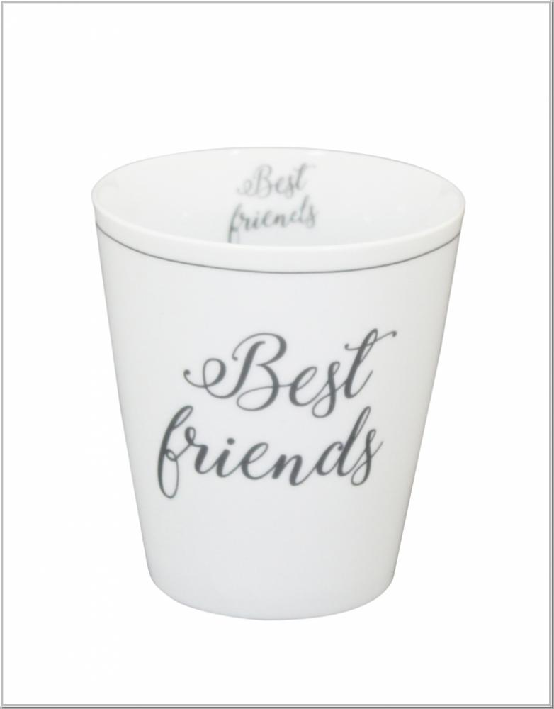 "Happy Mug ""Best Friends"" Kaffeebecher H10xØ9cm"