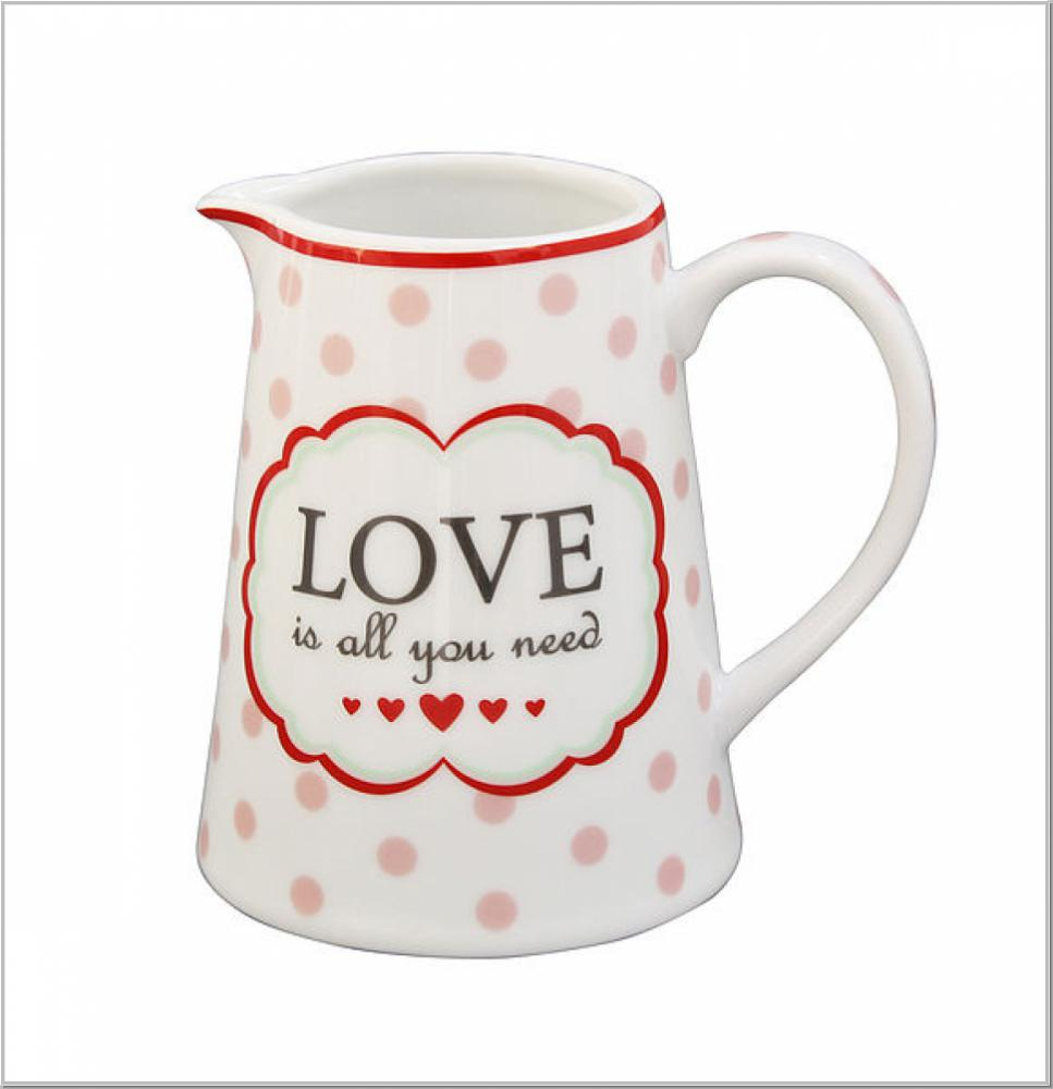 Milchkännchen Creamer Love is all you need