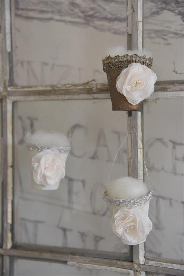 Jeanne d\' Arc Living Osterkorb Blume Osternest Vintage Shabby Chic