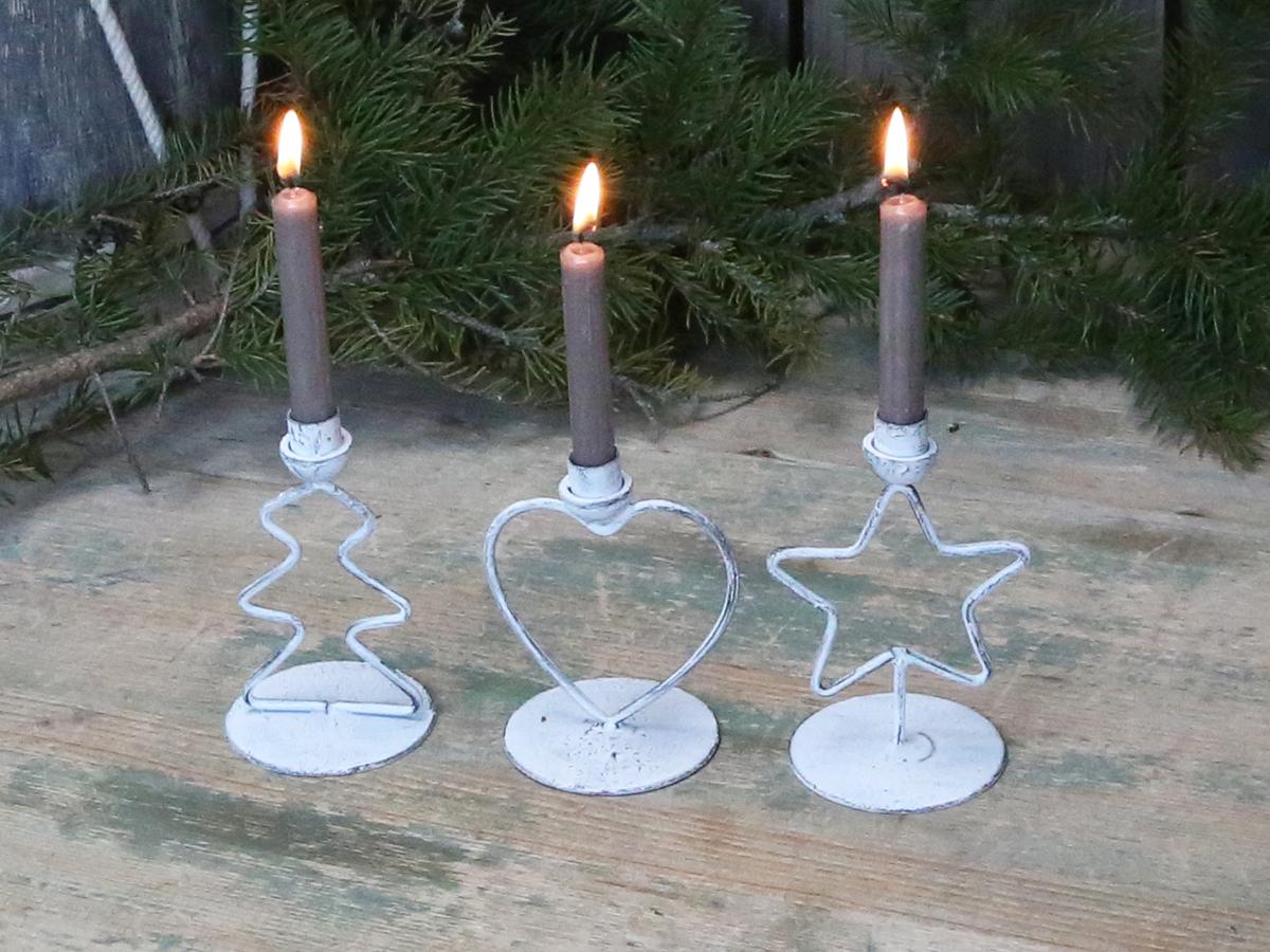 Kerzenhalter Weihnachten.Kerzenständer Im 3er Set Kerzenhalter Weihnachten H9cm