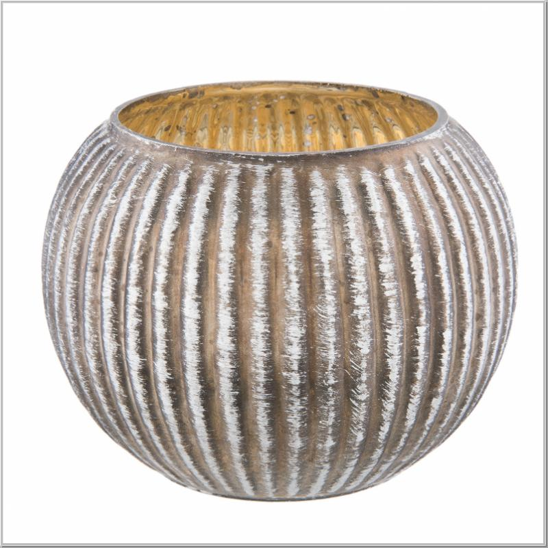 Teelichtglas ENGEL Glas silber Teelichthalter Teelicht Shabby Clayre /& Eef