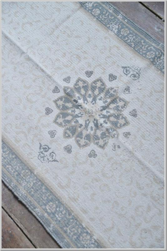 JDL Vintage Teppich Läufer Dusty Flower 70x280